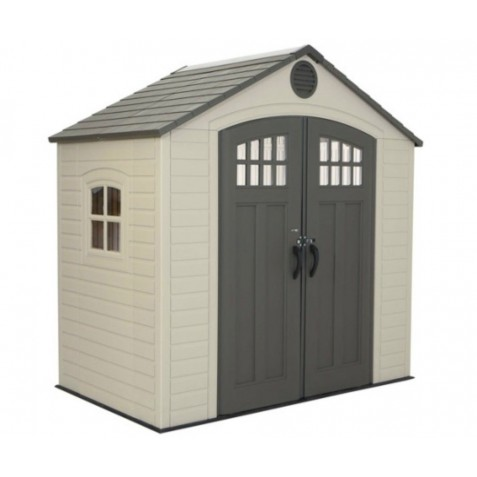 Lifetime 8x5 Ft Outdoor Storage Shed Kit with Window (60113)