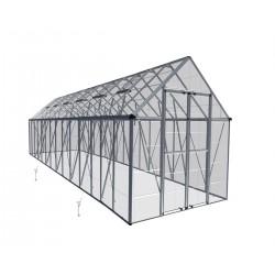 Palram 8x24 Snap & Grow Hobby Greenhouse Kit - Silver (HG8024)