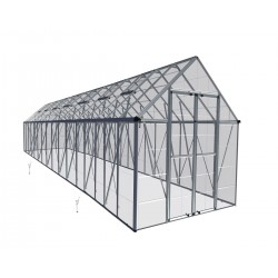 Palram 8x32 Snap & Grow Hobby Greenhouse Kit - Silver (HG8024)