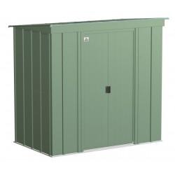 Arrow Classic 6x4 Steel Storage Shed Kit - Sage Green (CLP64SG)