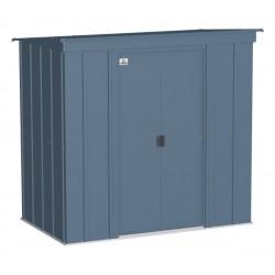 Arrow Classic 6x4 Steel Storage Shed Kit - Blue Grey (CLP64BG)