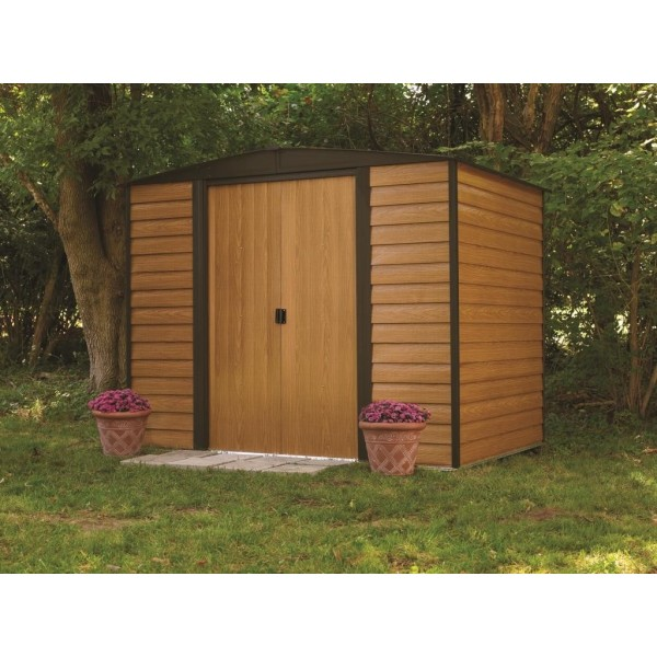 Arrow 8x6 euro dallas metal storage shed kit ed86 wr86 for Garden shed 8x6