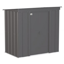 Arrow Classic 6x4 Steel Storage Shed Kit - Charcoal (CLP64CC)