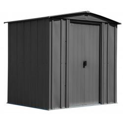 Arrow Classic 6x5 Steel Storage Shed Kit - Charcoal (CLG65CC)
