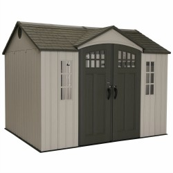 Lifetime 10x8 Plastic Shed w/ Skylight, Windows, Shelving & Floor (model 60151)