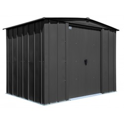 Arrow Classic 8x6 Steel Storage Shed Kit - Charcoal (CLG86CC)