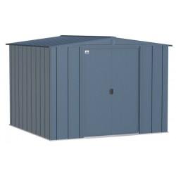 Arrow Classic 8x8 Steel Storage Shed Kit - Blue Grey (CLG88BG)