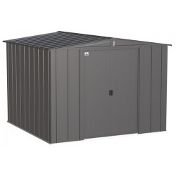 Arrow Classic 8x8 Steel Storage Shed Kit - Charcoal (CLG88CC)