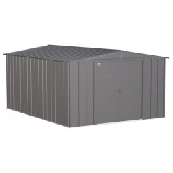 Arrow Classic 10x14 Steel Storage Shed Kit - Charcoal (CLG1014CC)