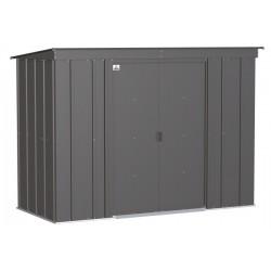 Arrow Classic 8x4 Steel Storage Shed Kit - Charcoal (CLP84CC)