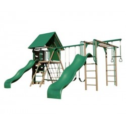 Lifetime Double Slide Deluxe Playset - Earthtone (90240)