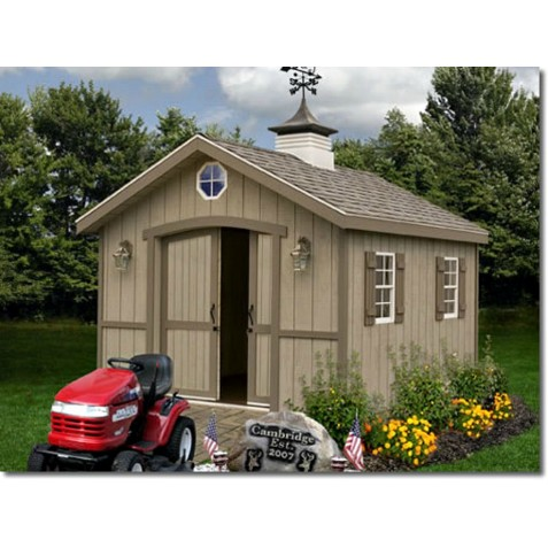 Best Barns Cambridge 10x16 Wood Storage Shed Kit (cambridge_1016)