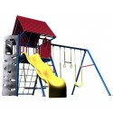 Lifetime Heavy-Duty Metal Playset with Clubhouse - Primary Colors (90137)