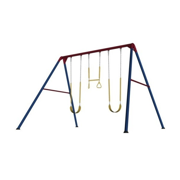 Lifetime Heavy Duty A Frame Metal Swing Set Primary Colors 90200