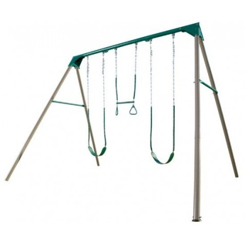 Lifetime Heavy-Duty A-Frame Metal Swing Set Kit - Earthtone (290038)