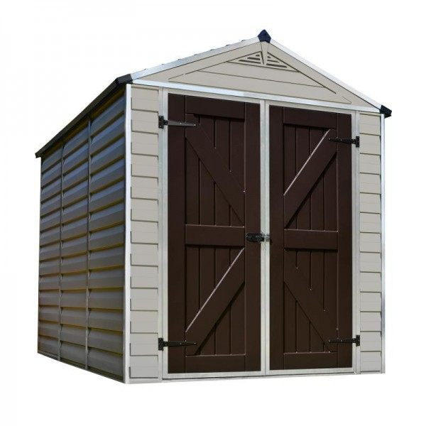 Palram 6x8 Skylight Storage Shed Kit Tan Hg9608t