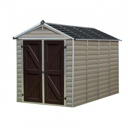 Palram 6x10 Skylight Storage Shed Kit - Tan (HG9610T)