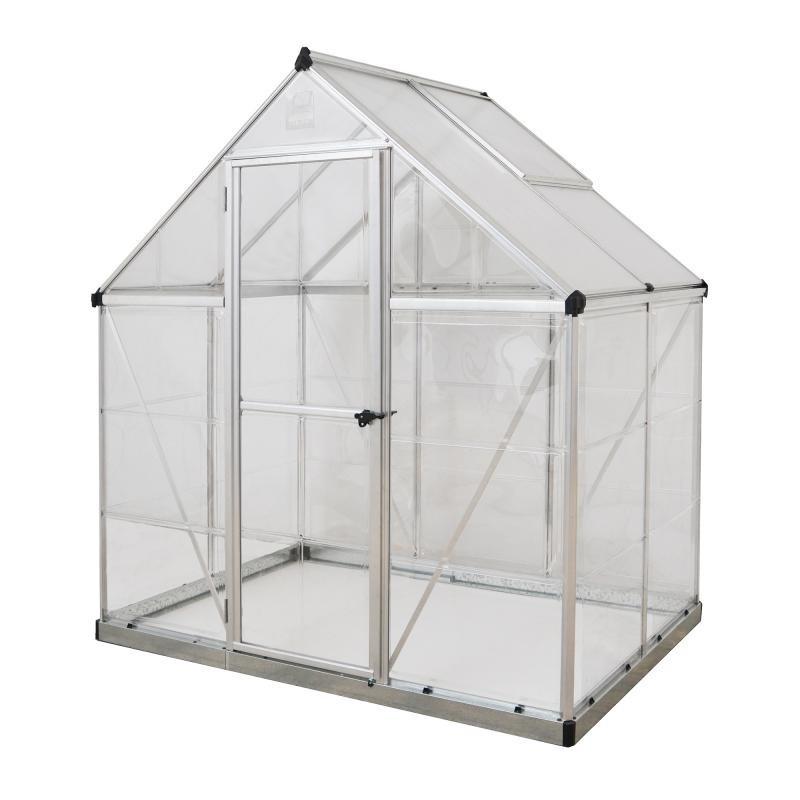 Palram 6'x4' Hybrid Greenhouse Kit - Silver (HG5504)