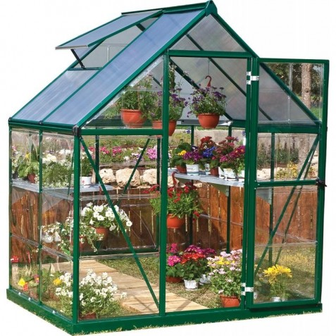 Palram 6'x8' Hybrid Greenhouse Kit - Green (HG5508G)