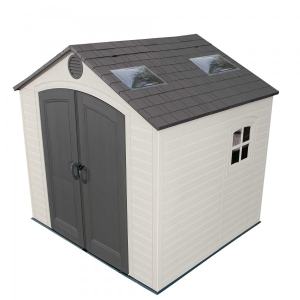 Lifetime 8u0027 X 7.5u0027 Plastic Outdoor Storage Shed Kit ...