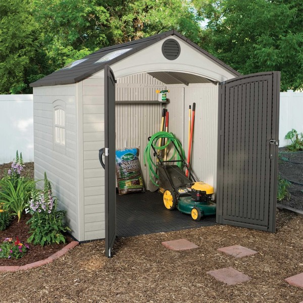 Lifetime 8x7 5 Ft Plastic Outdoor Storage Shed Kit 60015
