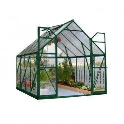 Palram 8'x8' Balance Hobby Greenhouse Kit - Green (HG6108G)