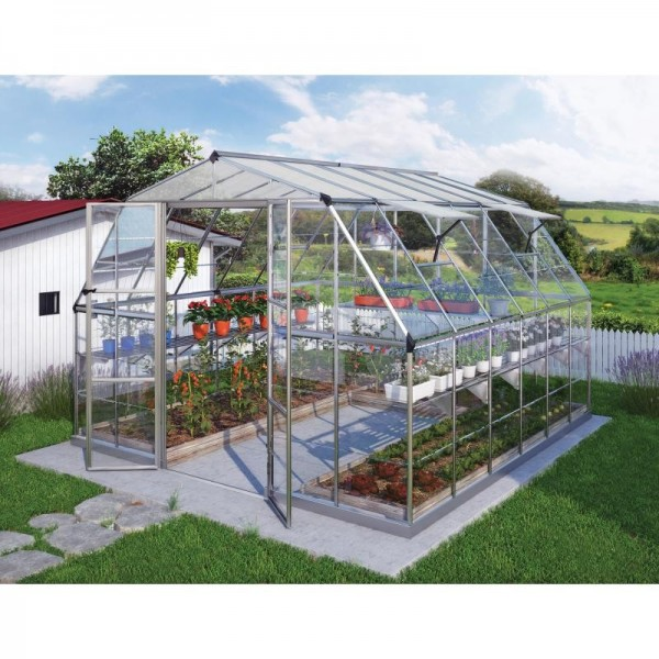 Palram 12x12 Americana Hybrid Greenhouse Kit Hg5212