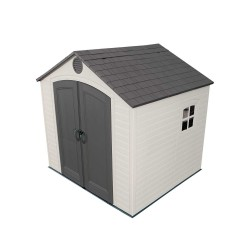Lifetime 8' x 7.5' Plastic Outdoor Storage Shed Kit (6411)