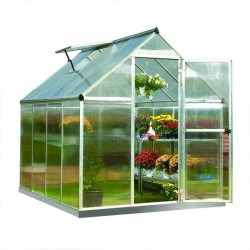 Palram 6x8 Mythos Hobby Greenhouse Kit - Silver (HG5008)