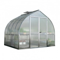 Palram 8'x16' Bella Hobby Greenhouse Kit - Silver (HG5416)
