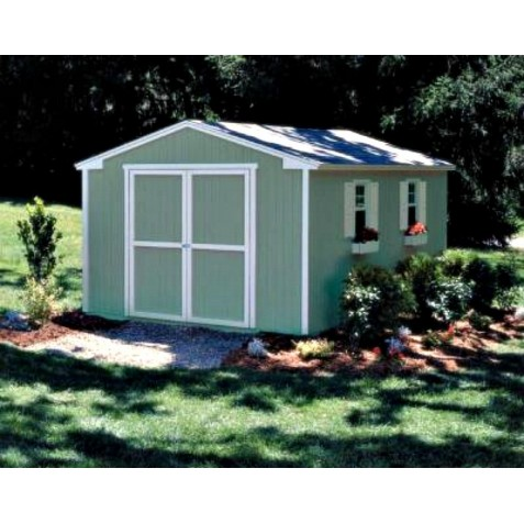 Handy Home Cumberland 10x8 Wood Storage Shed w/ Floor (18282-2)