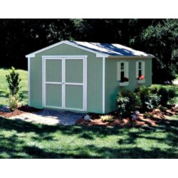 Handy Home Cumberland 10x12 Wood Shed Kit w/ Floor (18284-6)