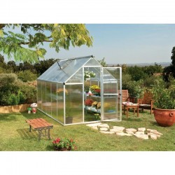 Palram Mythos 6x14 Hobby Greenhouse Kit - Silver (HG5014)