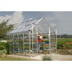 Palram 8x8 Snap & Grow Hobby Greenhouse Kit - Silver (HG8008)