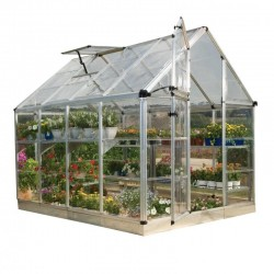 Palram 6x8 Snap & Grow Hobby Greenhouse Kit - Silver (HG6008)