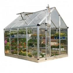 Palram 6x8 Snap & Grow Hobby Greenhouse Kit - Silver (HG6008)