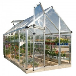 Palram 6'x12' Snap & Grow Hobby Greenhouse Kit - Silver (HG6012)