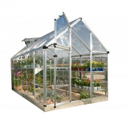 Palram 6x16 Snap & Grow Hobby Greenhouse Kit - Silver (HG6016)