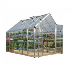 Palram 8x12 Snap & Grow Hobby Greenhouse Kit - Silver (HG8012)