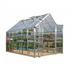 Palram 8x12 Snap & Grow Hobby Greenhouse Kit - Silver (HG8012)