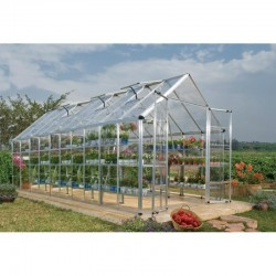 Palram 8'x20' Snap & Grow Hobby Greenhouse Kit - Silver (HG8020)