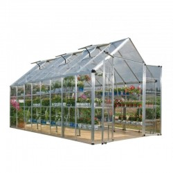 Palram 8'x16' Snap & Grow Hobby Greenhouse Kit - Silver (HG8016)
