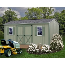 Best Barns Cypress 10x16 Wood Storage Shed Kit (cypress_1016