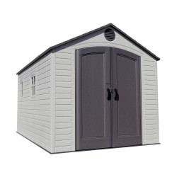 Lifetime 8' x 15' Plastic Storage Shed Kit - 2 windows (60075)