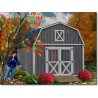 Denver 12x16 Wood Storage Shed Building Kit - ALL Pre-Cut (denver_1216)