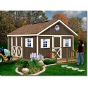 Fairview 12x12 Wood Storage Shed Kit - ALL Pre-Cut (fairview_1212)