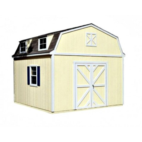 Handy Home Sequoia 12x12 Wood Storage Shed w/ Floor (18203-7)