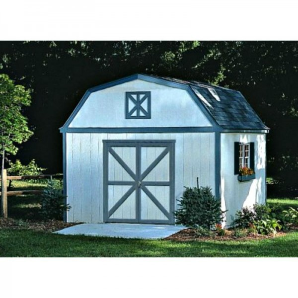 Handy Home Sequoia 12x16 Wood Storage Shed Kit (18204-4