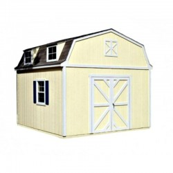 Handy Home Sequoia 12x16 Wood Storage Shed w/ Floor - Barn Style (18205-1)
