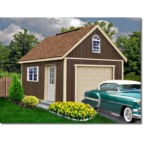 Best Barns Glenwood 12x24 Wood Storage Garage Kit (glenwood_1224)
